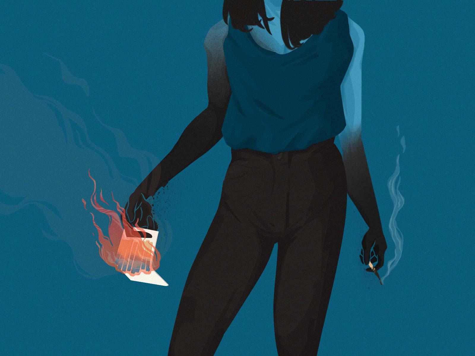 Ash-burn